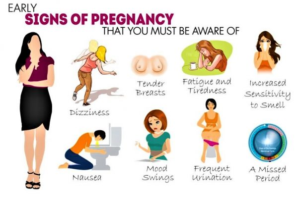 First signs of pregnancy