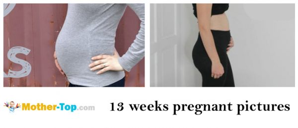 13 weeks pregnant pictures