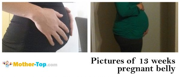 pictures of 13 weeks pregnant belly