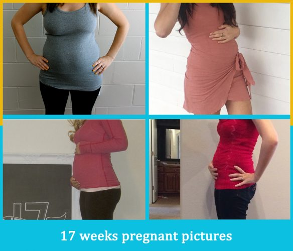 17 weeks pregnant pictures